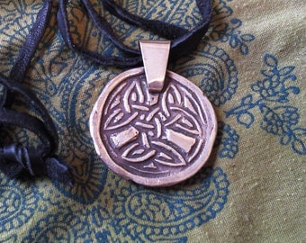 Fantasy Ancient Celtic Medalion Sterling Silver Pendant