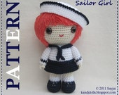 ENGLISH Instructions ONLY - Instant Download PDF Crochet Pattern Sailor Girl