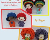 ENGLISH Instructions ONLY - Instant Download PDF Crochet Pattern Funky Guys