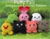 ENGLISH Instructions - Instant Download PDF Crochet Pattern Puffy Pals