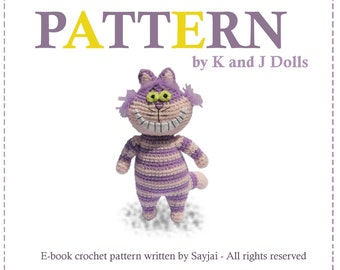 ENGLISH Instructions - Instant Download PDF Crochet Pattern Cheshire Cat