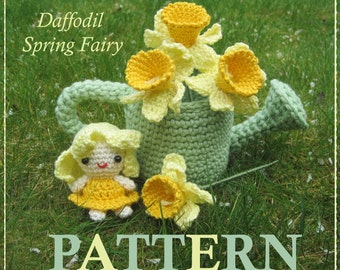 ENGLISH Instructions - Instant Download PDF Crochet Pattern Daffodil Spring Fairy