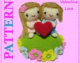 ENGLISH Instructions - Instant Download PDF Crochet Pattern Valentine Love