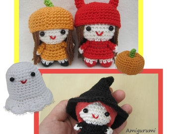 ENGLISH Instructions - Instant Download PDF Crochet Pattern Halloween Girls