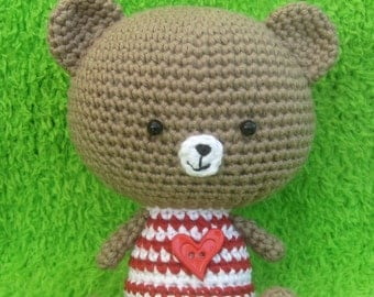 ENGLISH Instructions ONLY - Instant Download PDF Crochet Pattern Bobby Bear