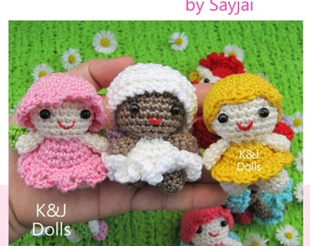 ENGLISH Instructions - Instant Download PDF Crochet Pattern Sweet Fairy Dolls