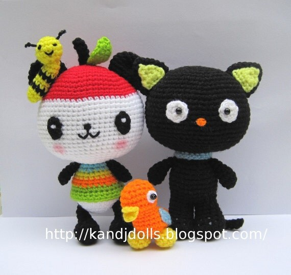 Chococat and Pandapple PDF Amigurumi animal crochet by ...