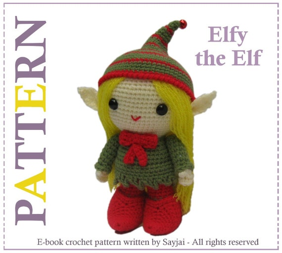 ENGLISH Instructions - Instant Download PDF Crochet Pattern Elfy the Elf