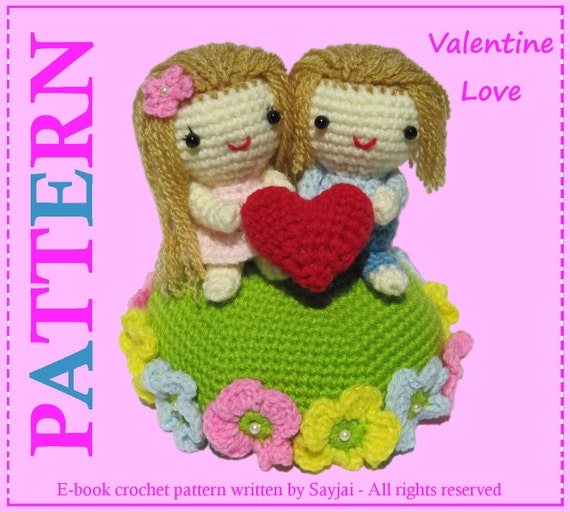 ENGLISH Instructions - Instant Download PDF Crochet Pattern Valentine Love