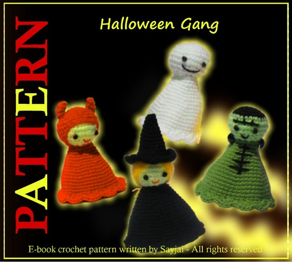 ENGLISH Instructions - Instant Download PDF Crochet Pattern Halloween Gang