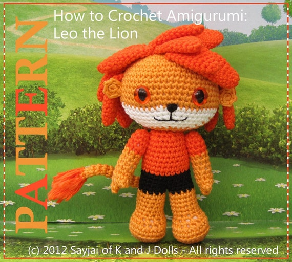 ENGLISH Instructions - Instant Download PDF Crochet Pattern Leo the Lion