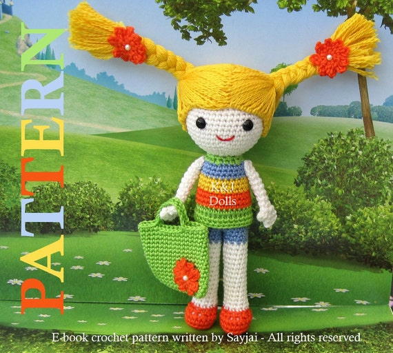 ENGLISH Instructions ONLY - Instant Download PDF Crochet Pattern Sunny Summer