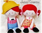 Doll sewing PATTERN, PDF pattern, raggedy Ann Andy, Boy or Girl, Softie, Plush doll pattern, instant download, digital download