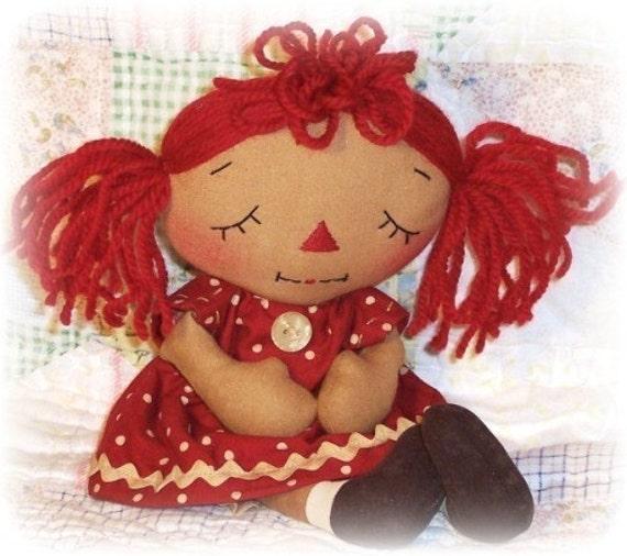 Rag Doll Pattern, PDF Sewing Pattern, cloth doll pattern, praying doll, raggedy ann annie, primitive doll, Christian inspirational, prayer