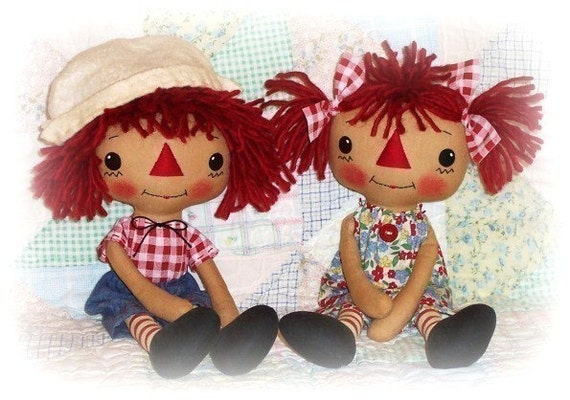 Primitive Doll Pattern Raggedy Ann Andy Pattern Boy And Girl