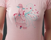 FREE SHIPPING American Ducess - Foxy Lady - Pink 18th Century Fox Tshirt