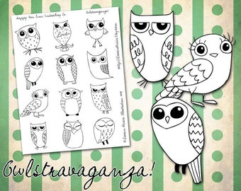 OWL-Stravaganza Pattern for Hand Embroidery