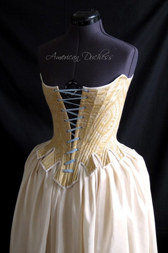 1780s Half Boned Duchess Stays Or Corset For 18th Century