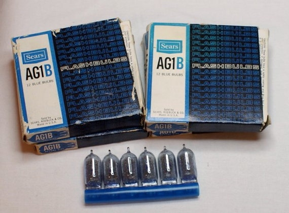 Sears AG1B Blue Flash Bulbs 4 Boxes