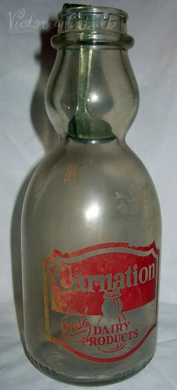 Vintage Painted Bottle Glass Pat