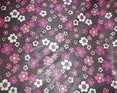 DESTASH SALE *** Pink And Brown Floral Polyester PUL By The Yard