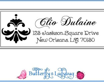 Damask Ding Personalized Address Labels