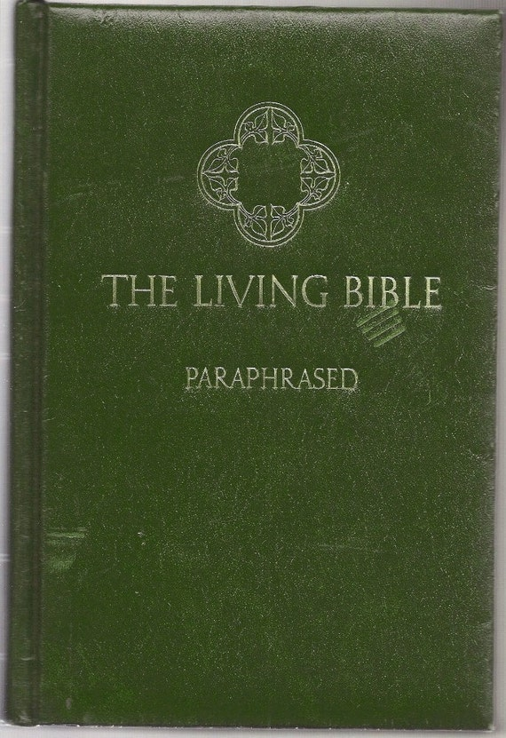 The Living Bible Paraphrased 1971 By Hellonikita On Etsy border=