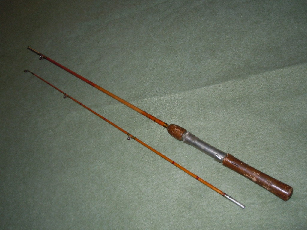 Sale Vintage South Bend Bamboo Fishing Rod 2 Piece Pat Feb