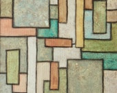 Patina Original Acrylic Painting on Canvas 18 x 24  metallic copper patina