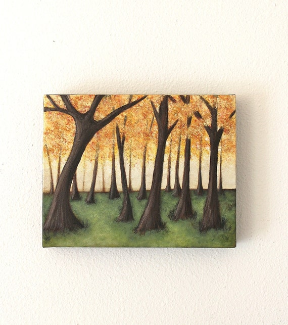Enchanted Forest Original Acrylic Painting on Thick 8x10 Canvas