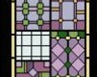 Needlepoint or Cross Stitch Pattern Design Chart - Stained Glass Cathedral Window