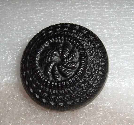 Large Black Vintage Buttons Set of 3