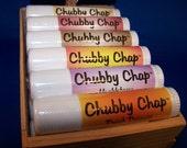 FREE SHIPPING - Chubby Chap .5 oz GIANT lip balm  - 4 tubes Petroleum Free