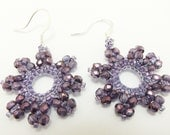 Amethyst Earrings Purple Jewelry Sterling Silver Earwires