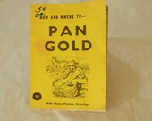 Vintage Book Pan for Gold Men Boys Women Teens Under gold digging vintage yellow book 10 USD