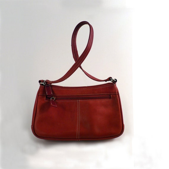 Vintage Purse Cherry Red Shoulder Bag Leather Tote Tignanello Purse for women teens,girls Under 15