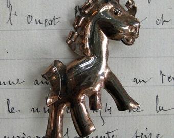 Sterling Silver Vintage Horse Brooch