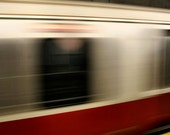 Boston Subway, Red Line, City Scene,  Stand Behind the Yellow Line Print, 11X14 Mat, Wall Art, Ready to Frame