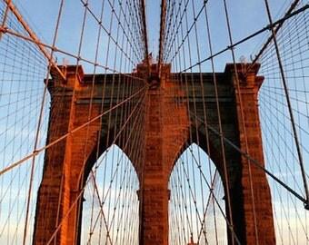 Brooklyn Bridge, New York City, Fine Art Photography, 11X14 Mat, Wall Hanging, Cityscape Art, Ready to Frame