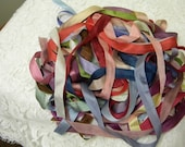 Pure Silk Ribbon 13mm 1/2 inch wide 25 yd Assortment