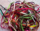 Pure Silk Ribbon 4mm  Assortment  25  yd Assortment