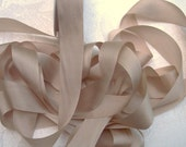 Pure Silk Ribbon  Campagne Color 1 inch wide 5 yard Spool