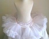 2 SIZES AVAILABLE...Sweet White Pettiskirt tutu...Precious...Ready to ship
