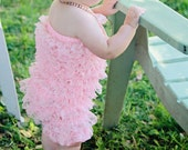 Clearance Chicaboo Peachy Pink Bubble lace petti romper / ruffles bloomer. size 2-4 years, ready to ship. Special Etsy price.