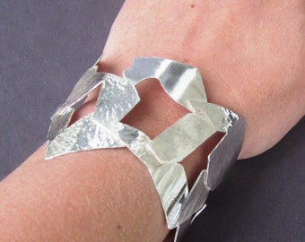 Recycled Sterling Scrap Cuff Bracelet by Resurrection Silver