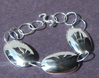 Resurrection Sterling Spoon Bowl Link Bracelet with Handmade Toggle