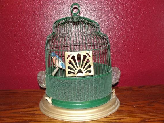 Vintage Round Bird Cage Glass Feeders
