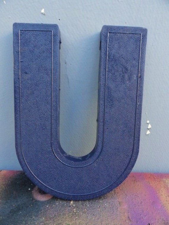 Letter U Initials Name Wall Decor 8 Marquee by bluebonnetfields