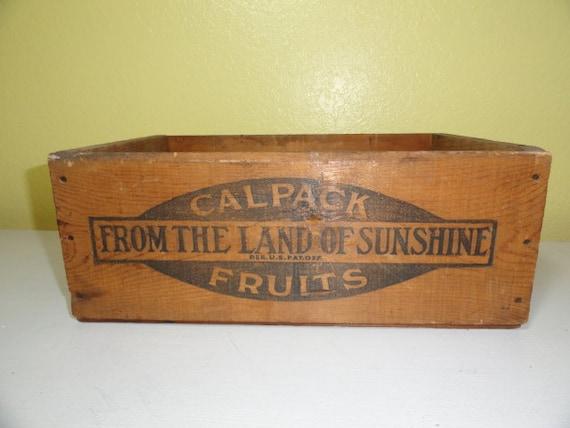 Vintage Fruit Crate Box California Prunes Wooden Box