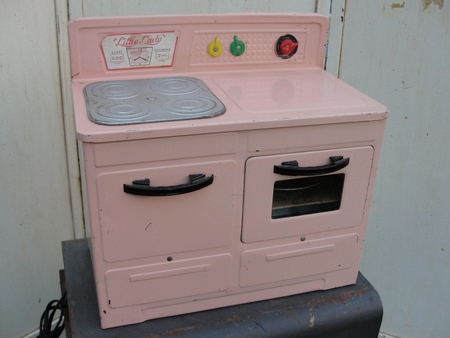 Vintage Toy Pink Stove Empire Toys Electric By